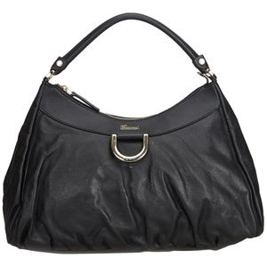 0c4bc8650e2 Authentic Gucci Abbey D Ring Blk Leather Hobo Bag